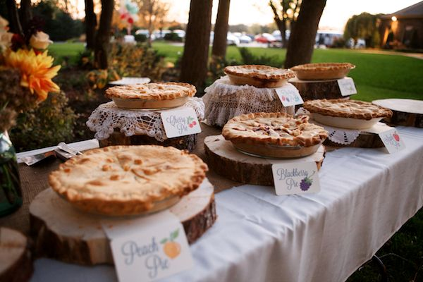 assortment of home-made pies