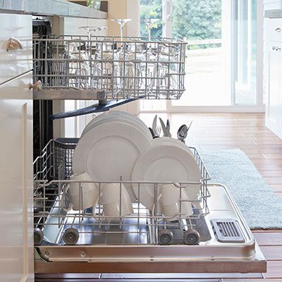 Clean Dishes in dishwasher