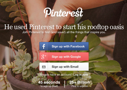 Go to Pinterest to get started