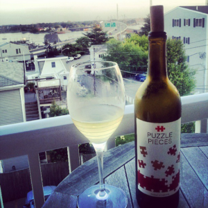 Wine and the perfect view