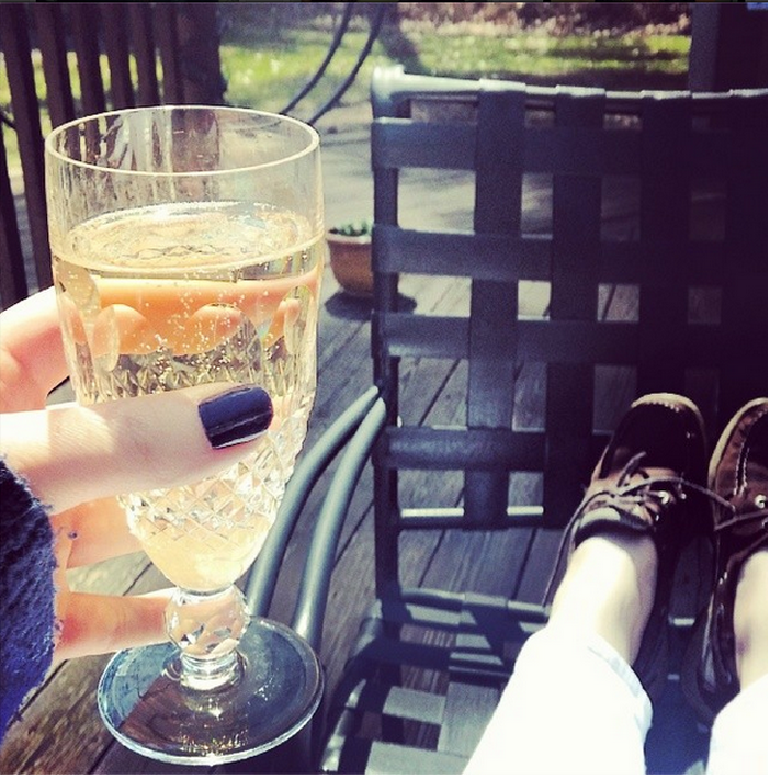 Champagne and sunshine