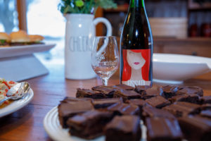 Dark chocolate desserts paired with wine