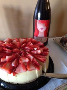 fissata and strawberry cheesecake