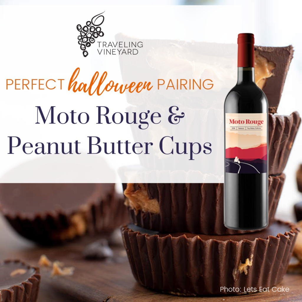 moto rouge and peanut butter cups pairing, spooktacular halloween pairings