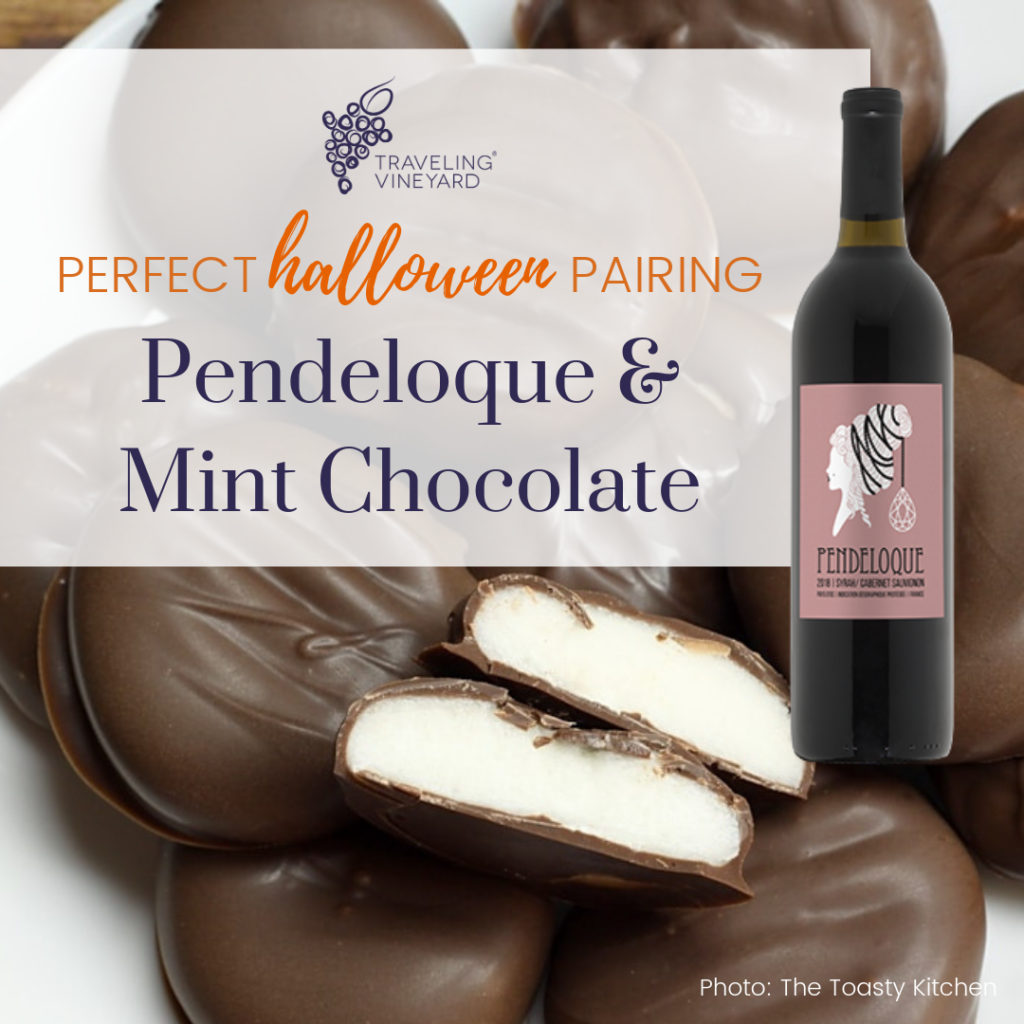 pendeloque and mint chocolate pairing