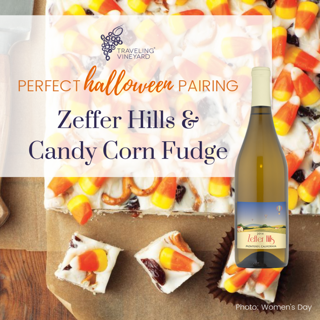 zeffer hills and candy corn fudge pairing, spooktacular halloween pairings