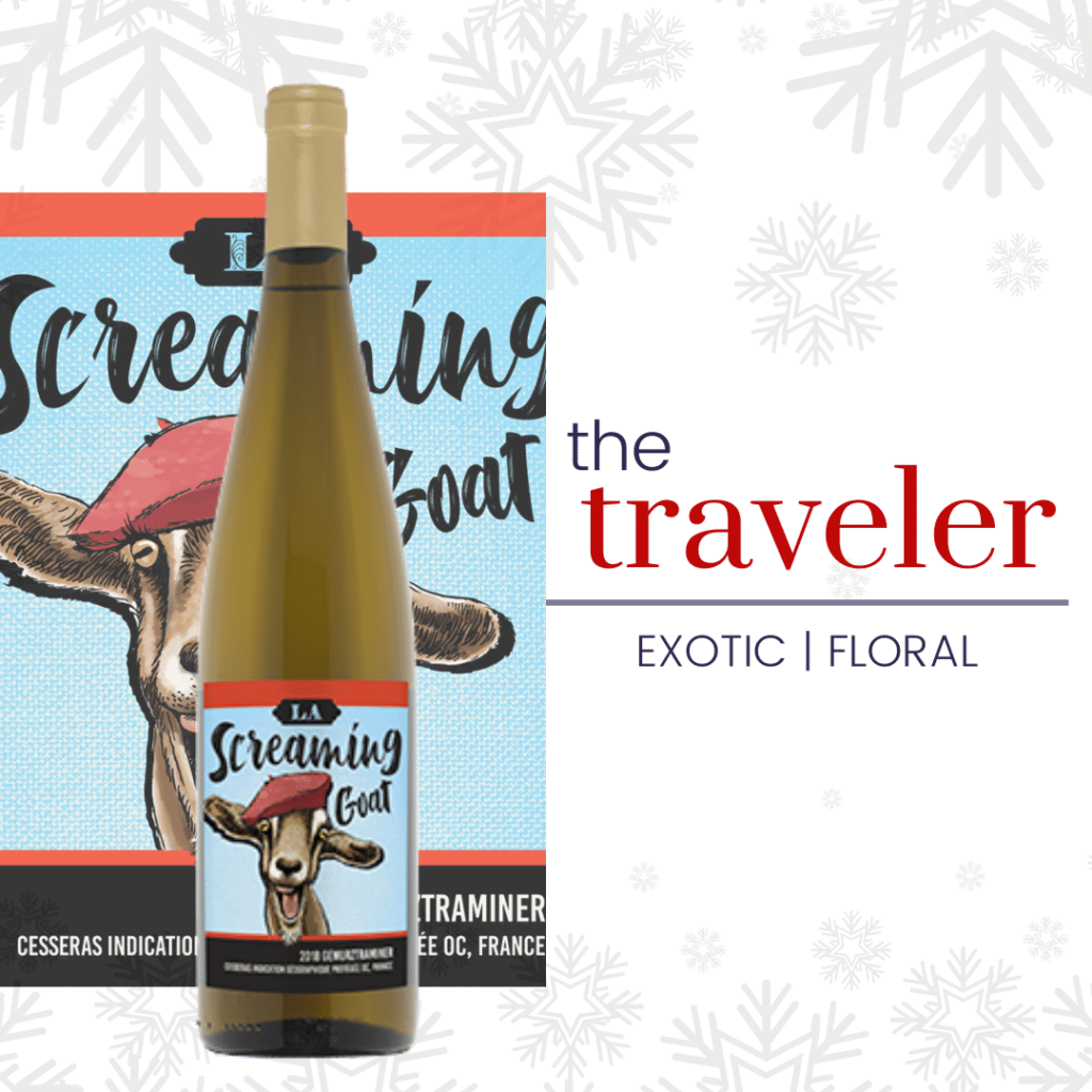 screaming goat gewürztraminer for the traveler