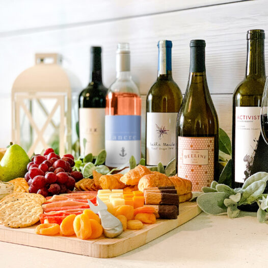 Our winemaker picks for the holidays with a charcuterie board