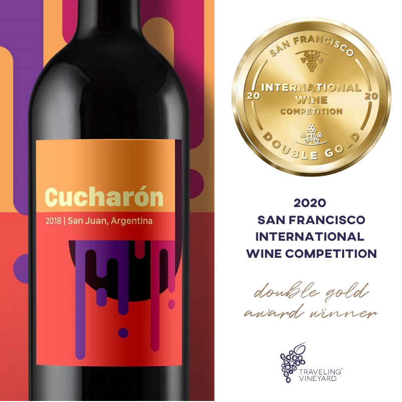 Image of Cucharon label with the Double Gold emblem from SFIWC